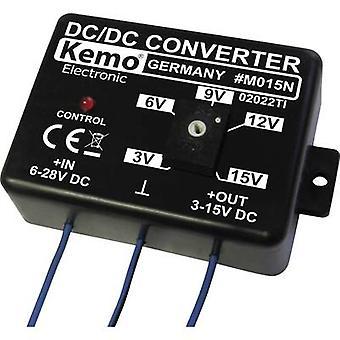 Voltage transformer Component Kemo ATT.FX.INPUT_VOLTAGE: 6 - 28 Vdc ATT.FX.OUTPUT_VOLTAGE: 3 - 15 Vdc