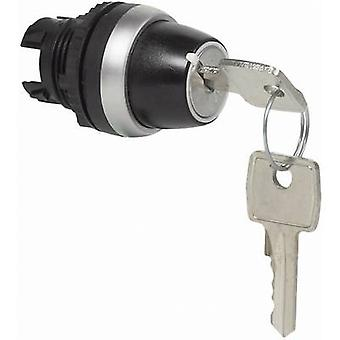 Key switch Front ring (PVC), chrome-plated Black, Chrome 1 x 45 ° BACO L21LD00 1 pc(s)