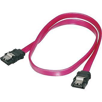 Digitus Hard drives Cable [1x SATA socket 7-pin - 1x SATA socket 7-pin] 0.75 m Red