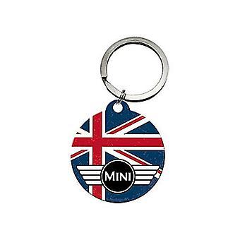 Mini Union Jack Round Metal Keyring Licensed