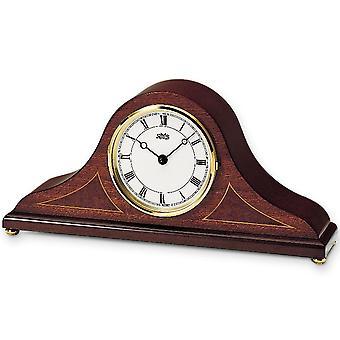 nostalgic wooden table clock table clock quartz body mahogany pianofinish