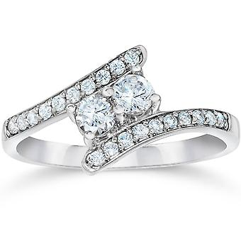 1/2CT Forever Us Diamond Two Stone Ring White Gold