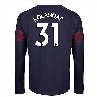 2018-2019 Arsenal Puma Away Long Sleeve Shirt (Kolasinac 31)