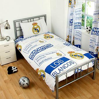 Real Madrid Duvet bed set 135 x 200 + 50x75cm White