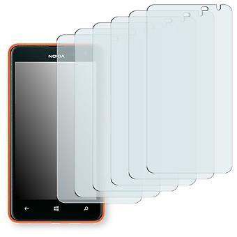 Nokia Lumia 625 LTE display protector - Golebo Semimatt protector (deliberately smaller than the display, as this is arched)