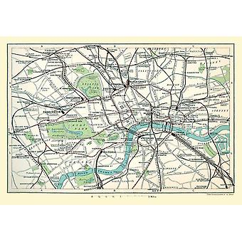 Railway Map Of Central London 1908 1000 Piece Jigsaw Puzzle (jhg)