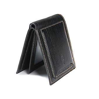 Genuine Leather Wallet Mens Black Money Purse ID Perfect Gift Or Present Which Splits In Two Travel Wallet