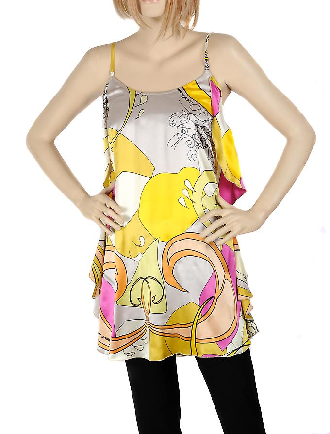 Waooh - Fashion - Small gray silk dress floral design