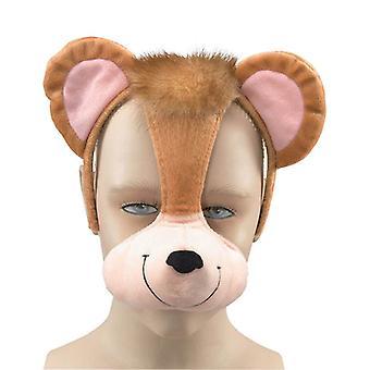 Monkey Mask On Headband +Sound.
