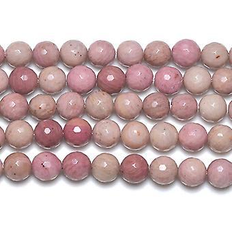 Aktionsdel 45 + Pink Rhodonite 8mm facetteret runde perler GS2776-2