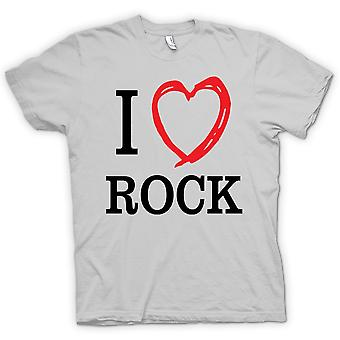 Kids T-shirt - I Love Rock Music Band - Quote