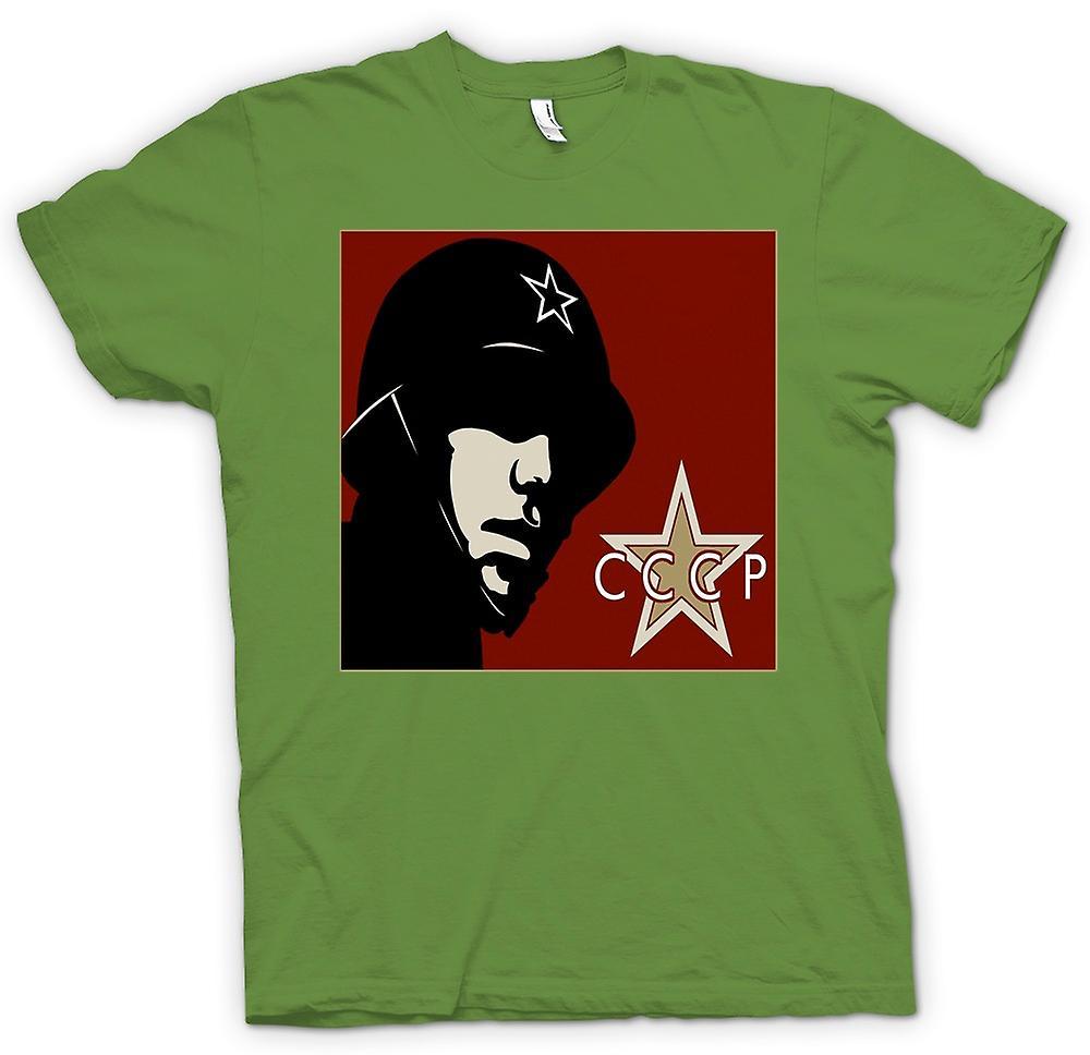 Mens T-shirt - CCCP de Rusia - cartel de la propaganda