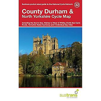 County Durham & North Yorkshire Cycle Map 32: Including the Sea to Sea, Walney to Wear & Whitby, North Sea Cycle...