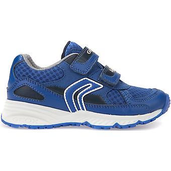 Geox Boys Bernie J8211C Trainers Royal Blue