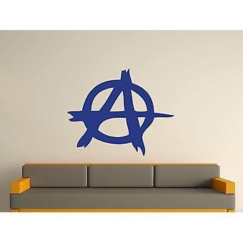 Anarchy Symbol Wall Art Sticker - Azure
