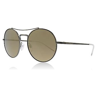 Emporio Armani EA2061 30035A Matte Gunmetal EA2061 Round Sunglasses Lens Category 3 Lens Mirrored Size 52mm