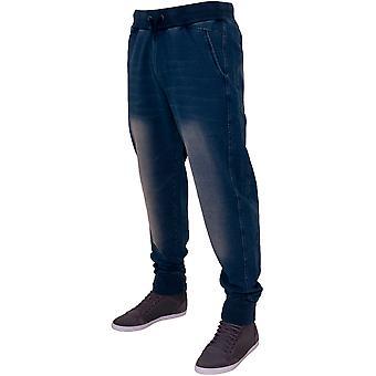 Calças sarja de Nimes clássicos urbana homens