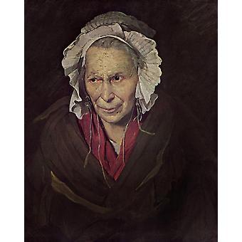 The Madwoman,Theodore Gericault,50x40cm