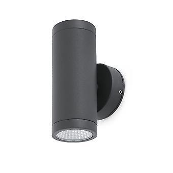 Faro - Cobo Dark Grey Outdoor LED Wall Light FARO70404