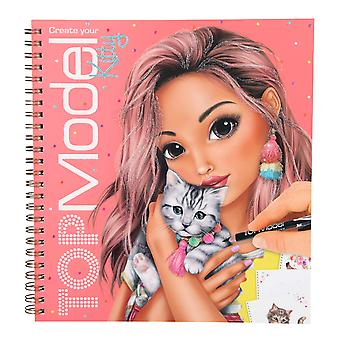 Depesche 10469 Colouring Book Create Your Kitty TopModel