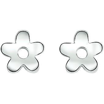 Bella Flower Stud Earrings - Silver