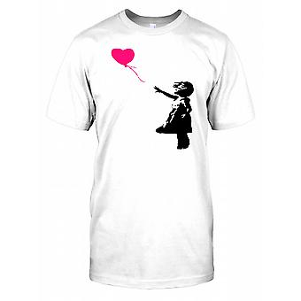 Banksy - Girl With Red Balloon - Urban Artiste Mens T Shirt