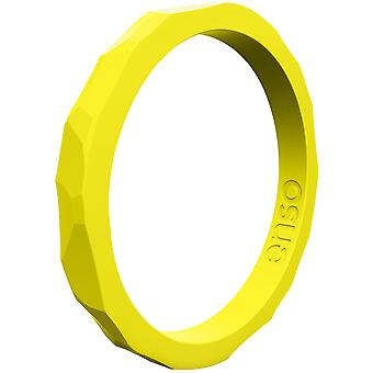 Enso Rings Hammered Stackables Series Silicone Ring - Maize
