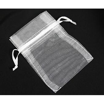 Draw String Organza Gift Bags White 10cm x 8cm 5000/Pack - (GI5162C)