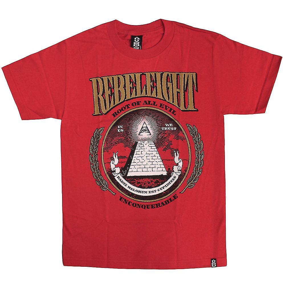 Rebel8 rute alle onde T-shirt rød