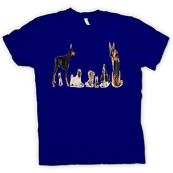 Womens T-shirt - Haustier Hund Collage - niedlich