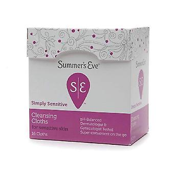 Summer's eve cleansing cloths for sensitive skin, 16 ea