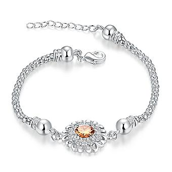18K White-Gold plated Ambrine Bracelet
