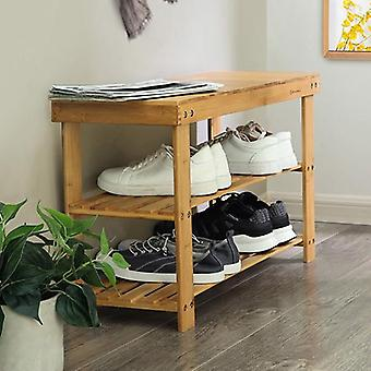Bamboo Shoe rack/bench-70 cm