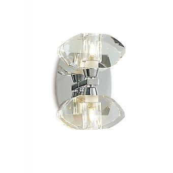 Mantra Alfa Wall Lamp Switched 2 Light G9, Polished Chrome