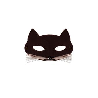 Smiffys Womens zwarte kat oog masker fancy dress kostuum accessoire