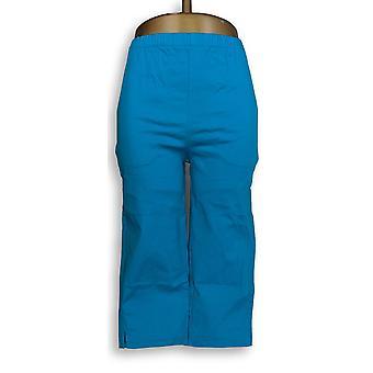 Denim & Co. Women's Shorts Pull-On Stretch Side Pocket Blue A14924