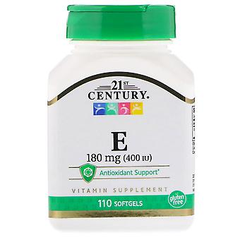 21st century vitamin e, 180 mg, softgels, 110 ea
