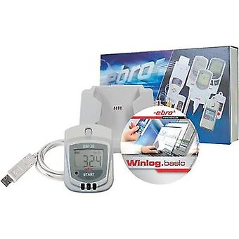 Multi-channel data logger ebro EBI 20-TH1-Set Unit of measurement Humidity, Temperature -30 up to 70 °C 0 up to 100 % RH