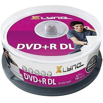 Blank DVD+R DL 8.5 GB Xlyne 4025000 25 pc(s) Spindle