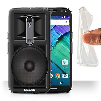 STUFF4 Gel/TPU Case/Cover for Motorola Moto X Style/Studio Monitor/Speaker
