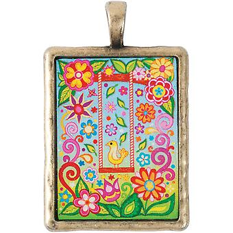Thaneeya(R) LLC acrylique Rectangle pendentif 1/Pkg-Swing TM-RECT-085