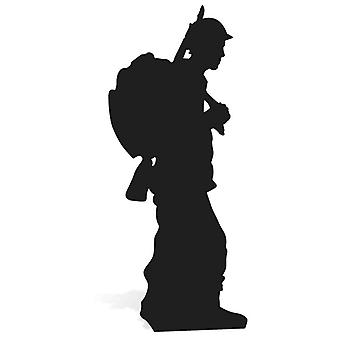 World War Wartime Soldier Silhouette Lifesize Cardboard Cutout / Standee/ Stand Up
