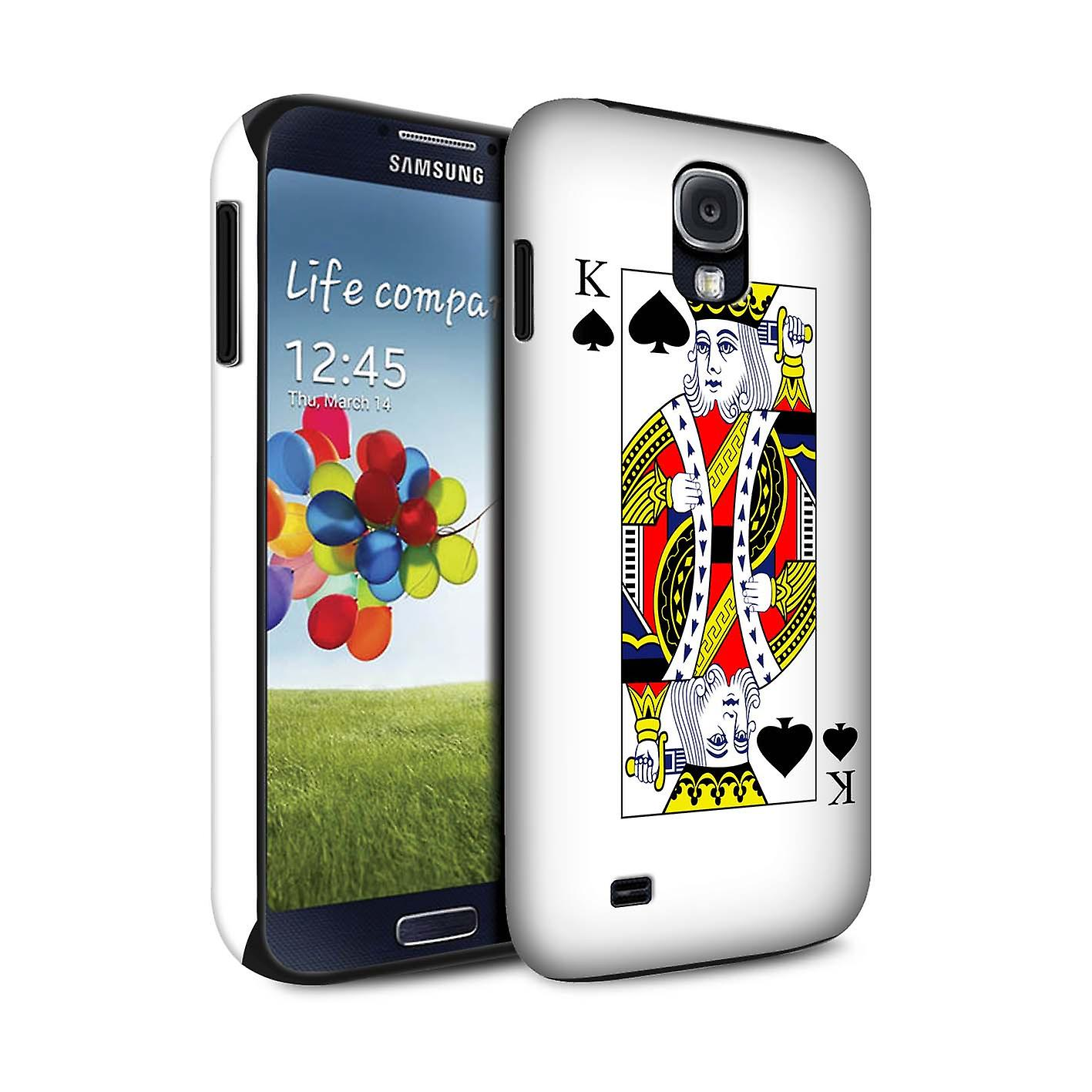 stuff4 matte tough shock proof phone case for samsung galaxy s4 siv king of spades playing cards. Black Bedroom Furniture Sets. Home Design Ideas