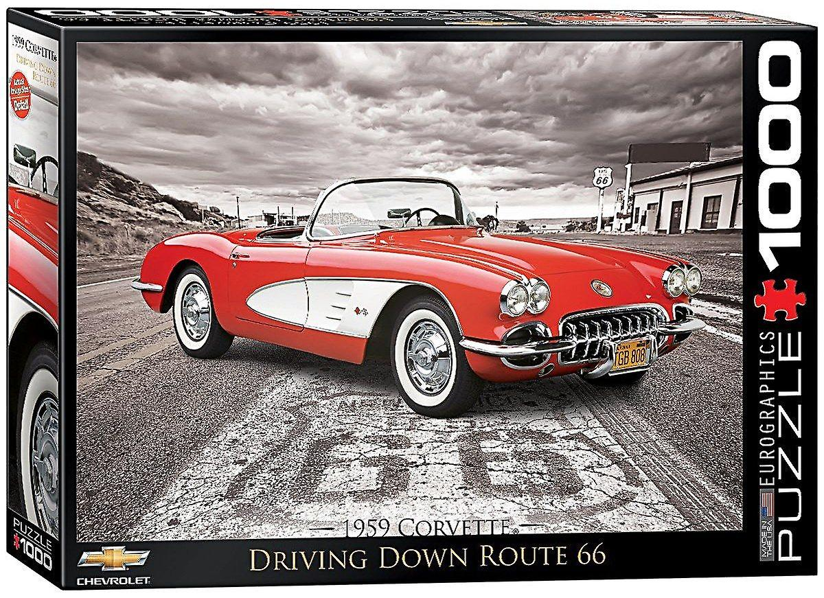 Chevrolet Corvette 1959 1000 piece jigsaw puzzle  680mm x 490mm (pz)