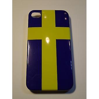 Handyhülle für IPhone 4/4 s-Schweden Flagge