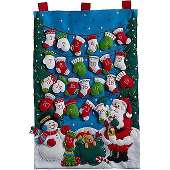 Wanten en kousen Advent kalender vilt stoffen Kit-86735