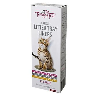 Cat Pan Litter Liner Lge upto 50x37 15pk