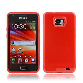 Protective case TPU case for mobile Samsung I9100 / i9505 Galaxy S2 Red