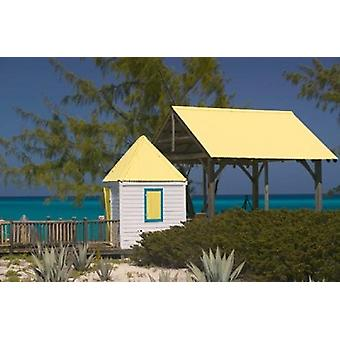 Windmills Plantation Beach House Salt Cay Island Turks and Caicos Caribbean Poster Print by Walter Bibikow