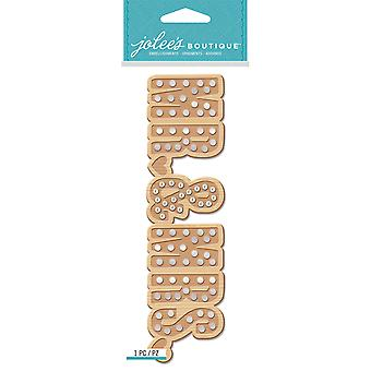 Jolee's Boutique Title Waves Dimensional Stickers-Mr. & Mrs. Marquee E5060528